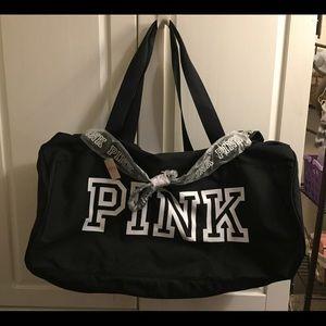 Victoria's Secrets PINK Black Travel Gym Bag